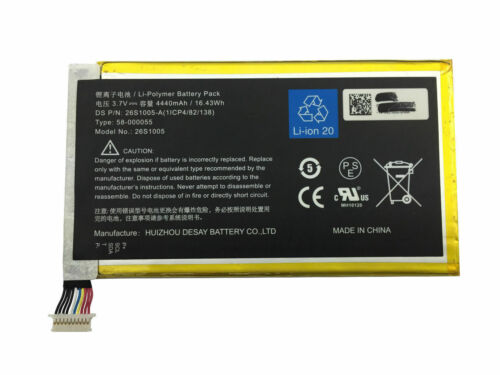 Amazon Kindle Fire HDX 7.0 KC5 26S1005 26S1005-S,58-000055 1ICP4/82/138 compatible Battery