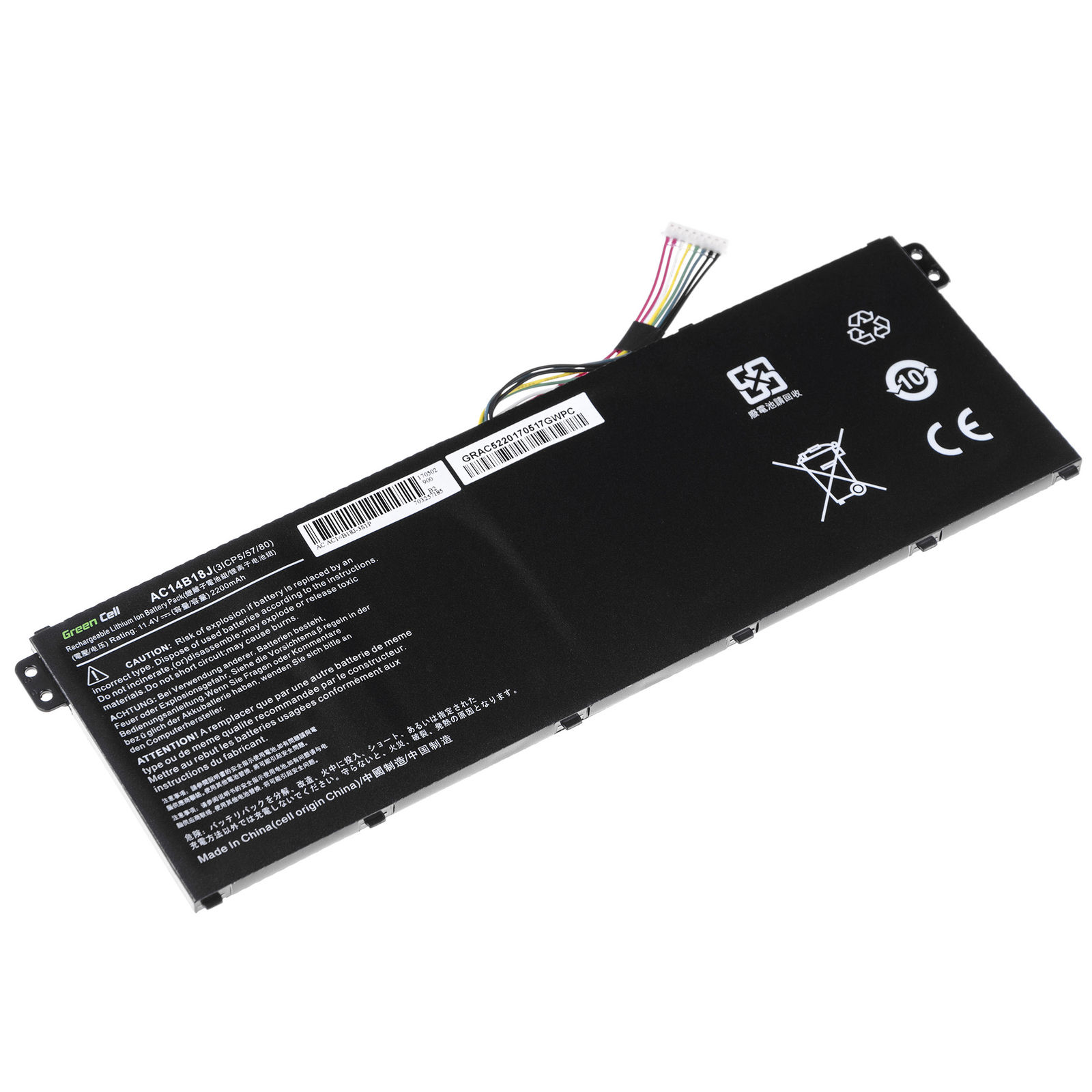 11.4V Acer Aspire ES1-731 ES1-731G AC14B18J compatible battery