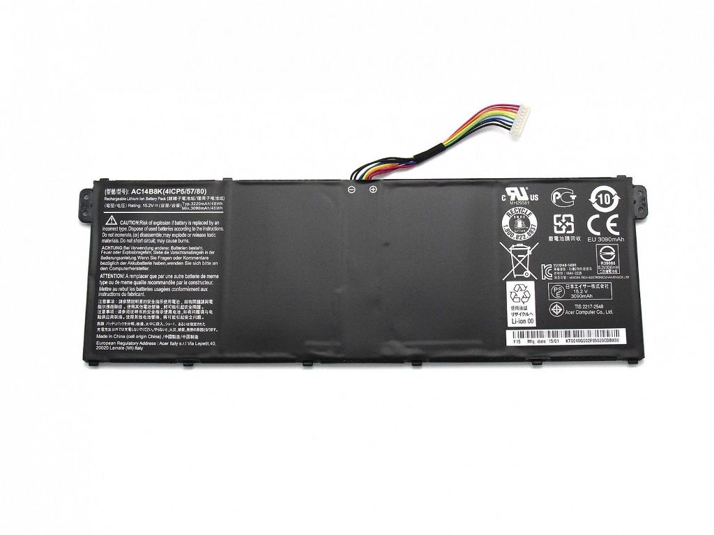 Acer Aspire V3-371 V3-111 E5-771G TravelMate P276 B115-M AC14B8K compatible battery