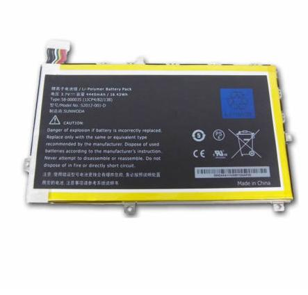"26S1001 Amazon Kindle Fire HD 7"" X43Z60 26S1001-S1 58-000035 compatible battery"