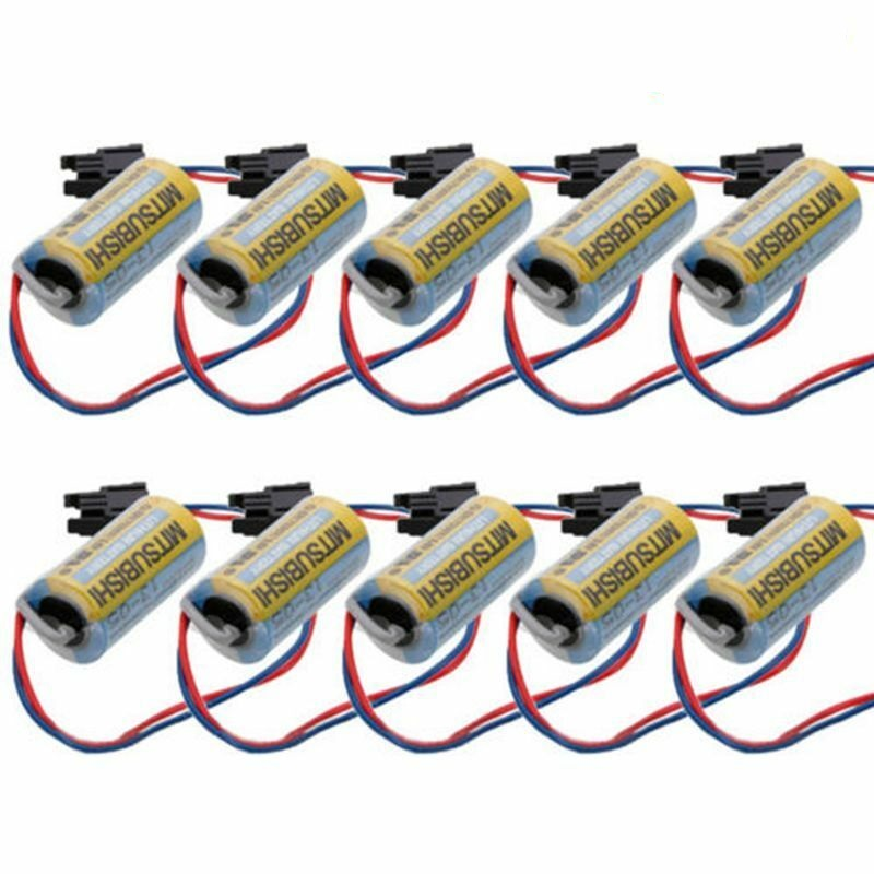 10pcs Mitsubishi A6BAT ER17330V PLC 2/3A 3.6V Li-ion W/Plug replacement battery