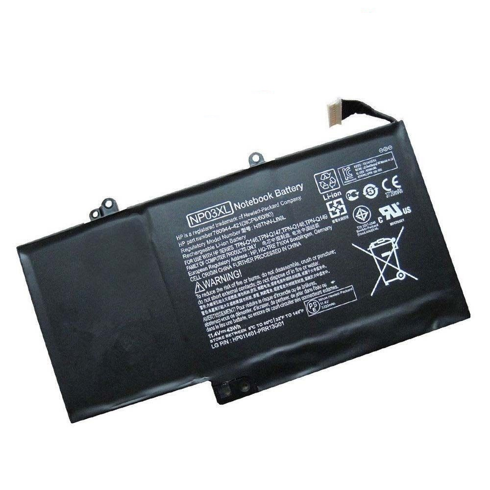 HP ENVY x360 15-u011dx NP03XL 11.4V 43.Wh 761230-005 HSTNN-LB6L compatible battery