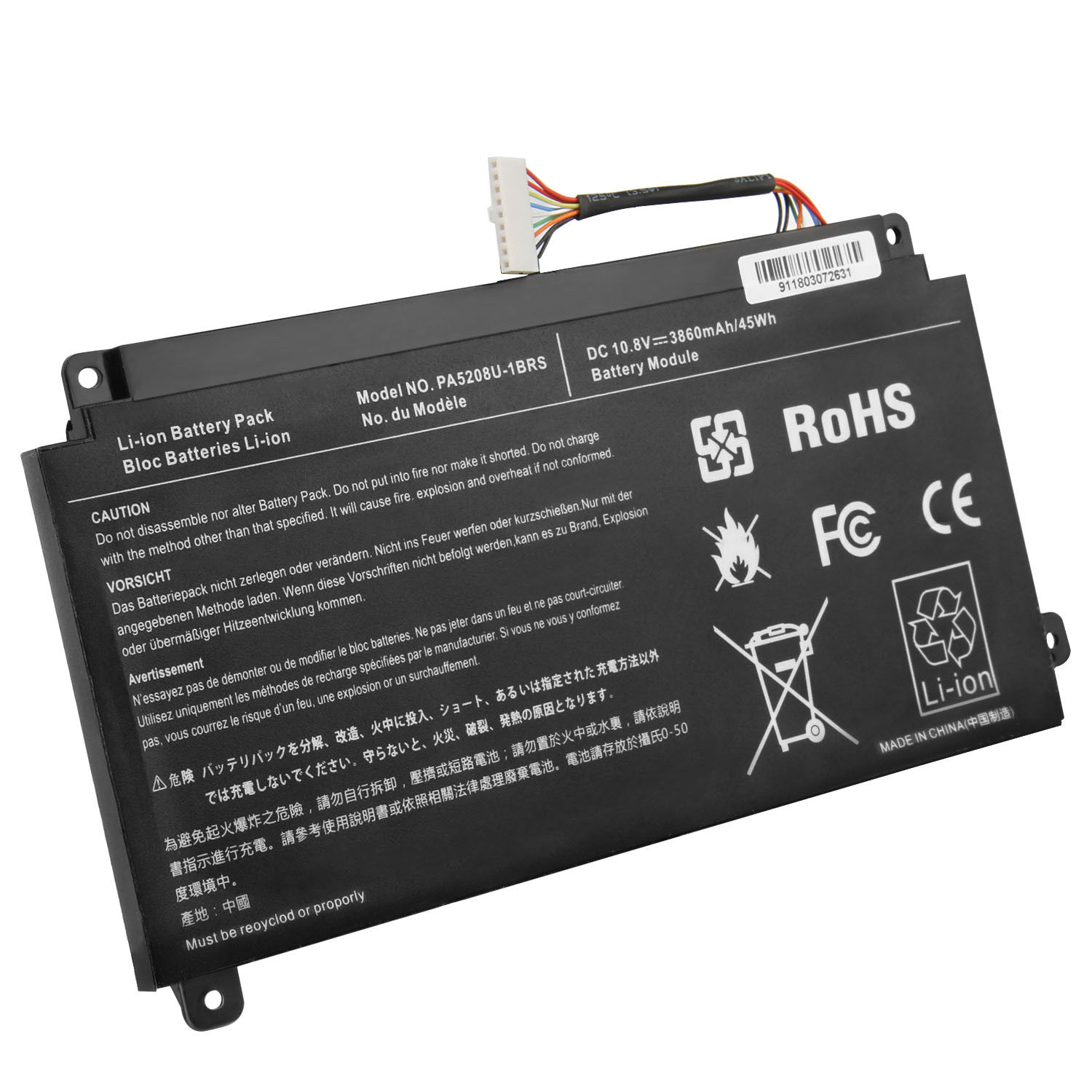 Toshiba Satellite Radius 15 P50W-C-10P P50W-C-110 compatible battery