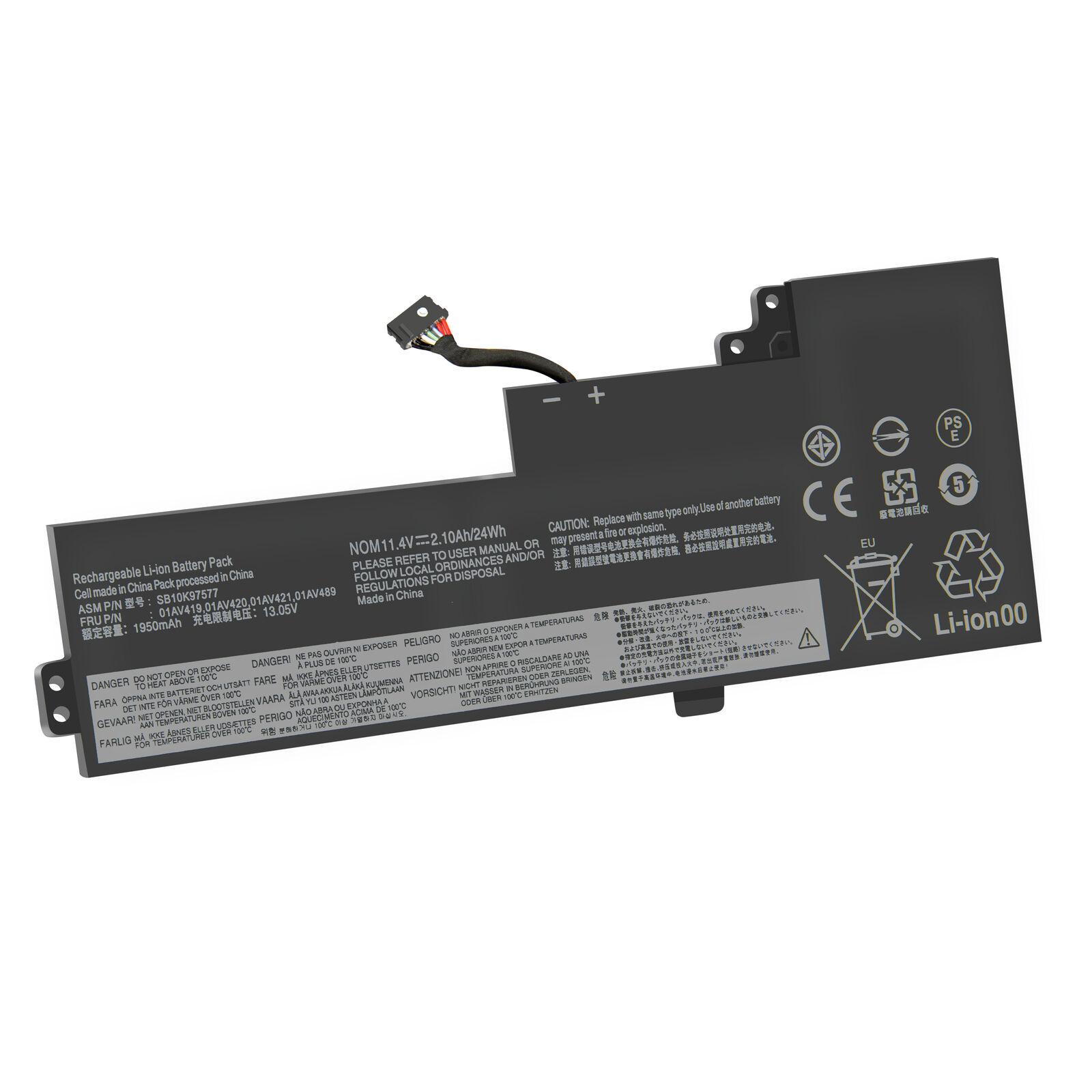 11.4V 01AV419 01AV420 01AV489 SB10K97578 Lenovo ThinkPad T470 T480 A475 A485 compatible battery