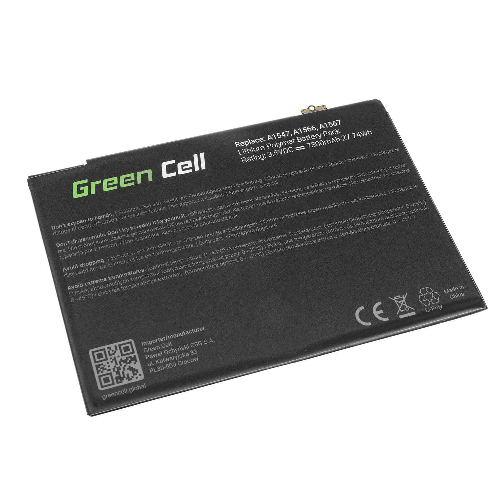 Apple iPad Air 2 7300mAh compatible battery