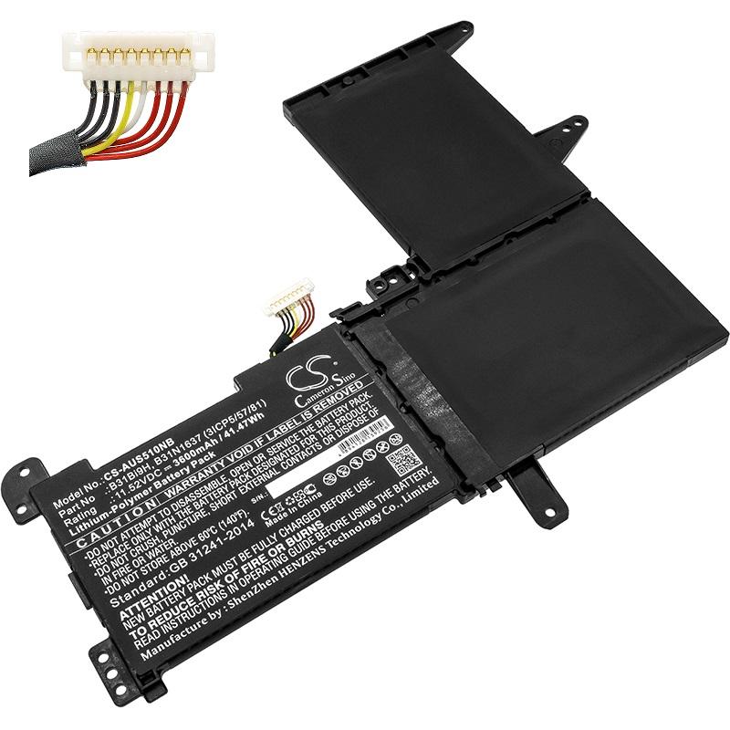 B31N1637 B31Bi9H Asus VivoBook X510 X510U X510UF X510UQ S510U compatible battery