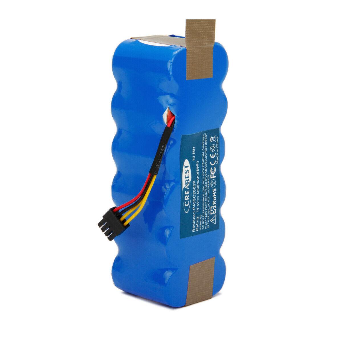 4.0AH 14.4V Ni-MH Ariete Briciola 2711 2712 2713 2717 CR120 X500 KK-8 compatible Battery