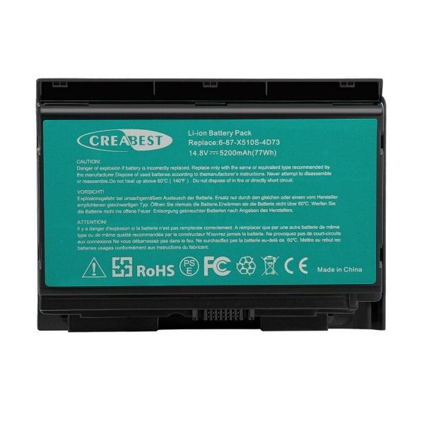 6-87-X510S P150HMBAT-8 CLEVO P150SM P170SM P170 P170HM compatible battery