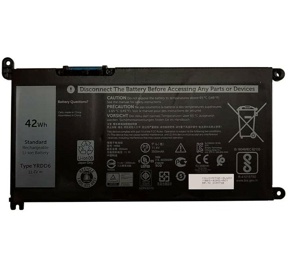 YRDD6 Dell Inspiron 3480 3481 3482 3490 3493 3590 3593 compatible battery
